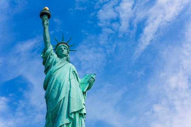 Simbolo americano di usa della statua della libertà di new york