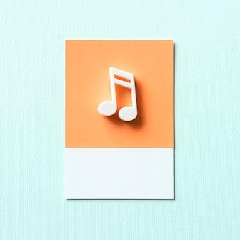 Simbolo audio colorato della nota musicale