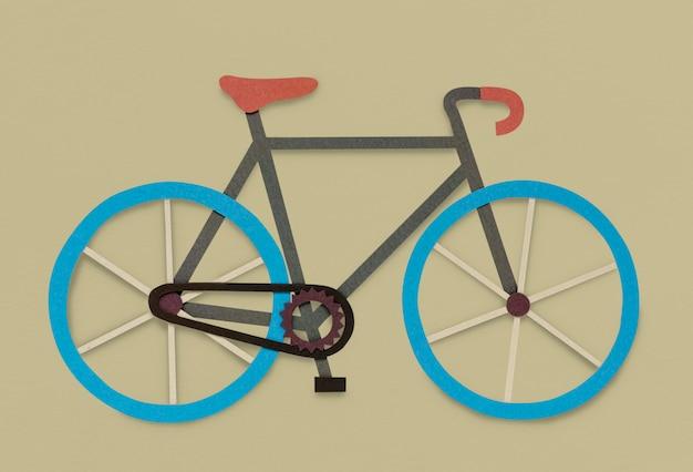 Simbolo dell'icona di hobby della bici della bicicletta
