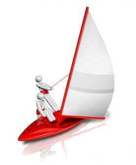 Simbolo della vela tridimensionale, serie di sport olimpici