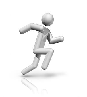 Simbolo di atletica tridimensionale