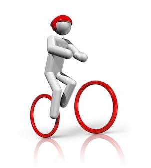 Simbolo di ciclismo mountain bike tridimensionale