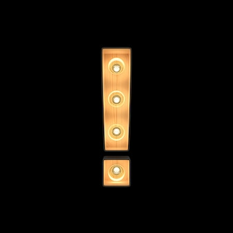 Simbolo di punto esclamativo luce di selezione