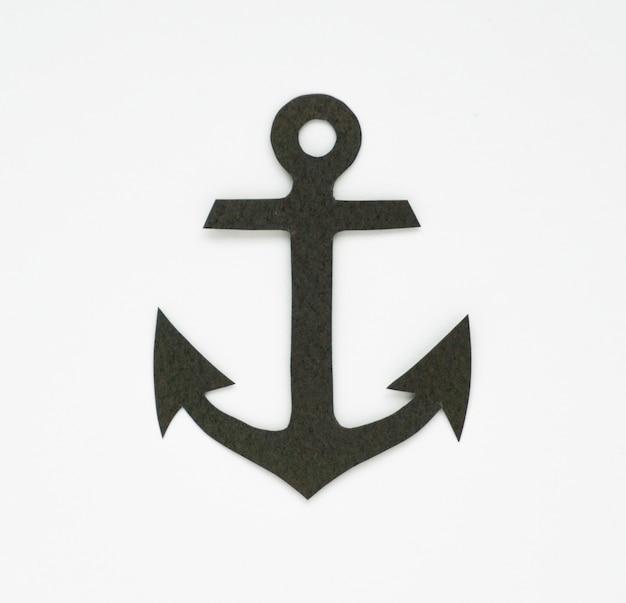 Simbolo grafico dell'icona marina dell'ancora