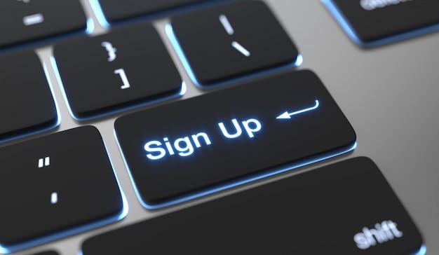Simbolo sul testo scritto sul pulsante tastiera.
