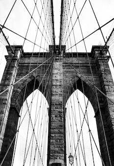 Simbolo york ponte all'aperto blu