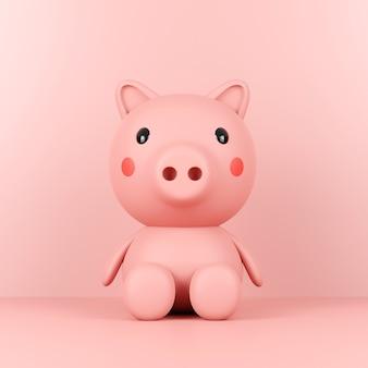 Simpatico giocattolo salvadanaio rosa