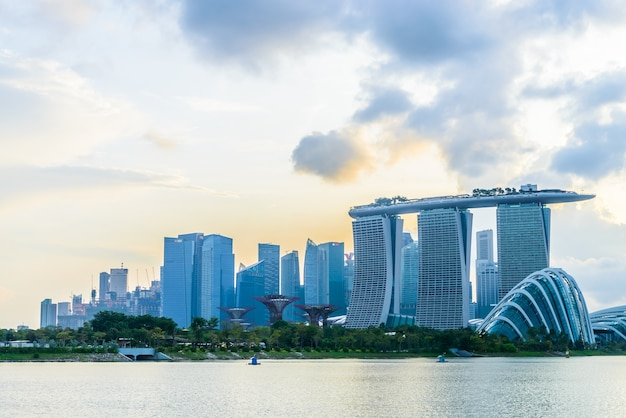 Singapore vista waterfront architettura urbana