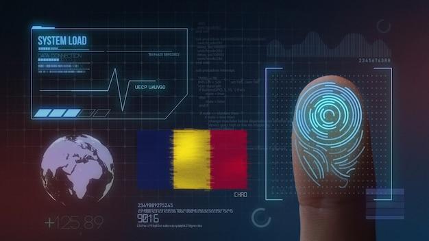 Sistema di identificazione biometrico a scansione di impronte digitali. ciad nazionalità