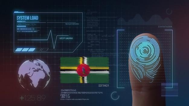 Sistema di identificazione biometrico a scansione di impronte digitali. dominica nazionalità