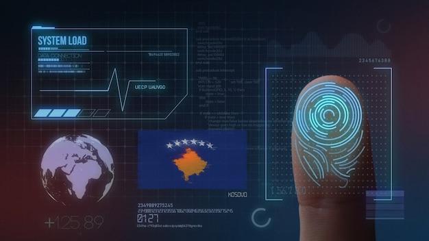 Sistema di identificazione biometrico a scansione di impronte digitali. nazionalità del kosovo
