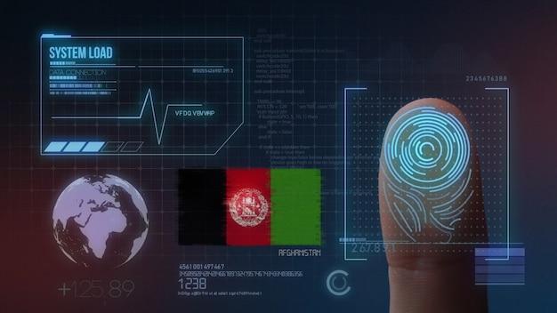 Sistema di identificazione biometrico a scansione di impronte digitali. nazionalità dell'afghanistan