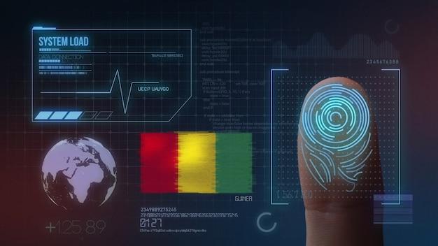 Sistema di identificazione biometrico a scansione di impronte digitali. nazionalità della guinea