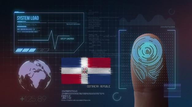 Sistema di identificazione biometrico a scansione di impronte digitali. nazionalità della repubblica dominicana