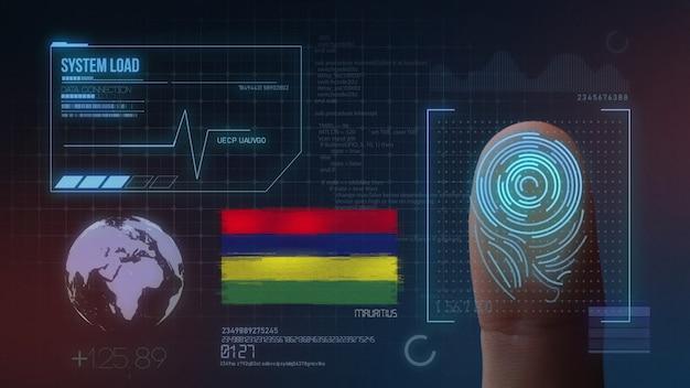 Sistema di identificazione biometrico a scansione di impronte digitali. nazionalità di mauritius
