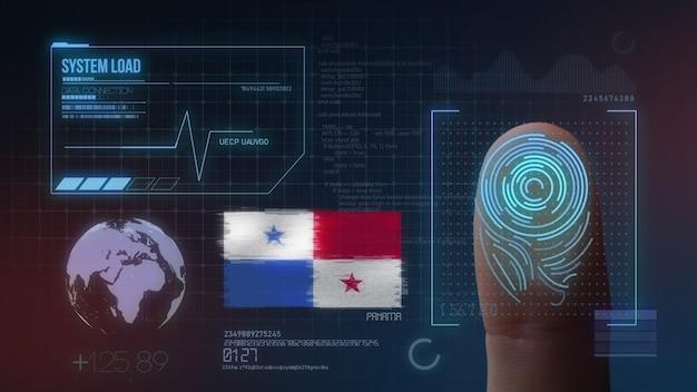 Sistema di identificazione biometrico a scansione di impronte digitali. nazionalità di panama