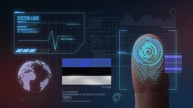 Sistema di identificazione biometrico a scansione di impronte digitali. nazionalità estone