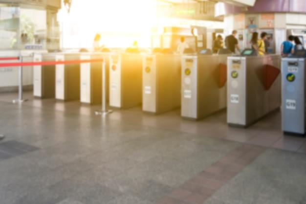 Sistema di sicurezza per accesso alla tessera di accesso. / sfoca messa a fuoco