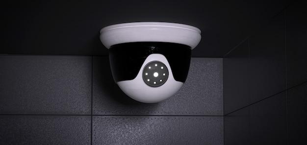 Sistema di telecamere cctv di sicurezza - rendering 3d