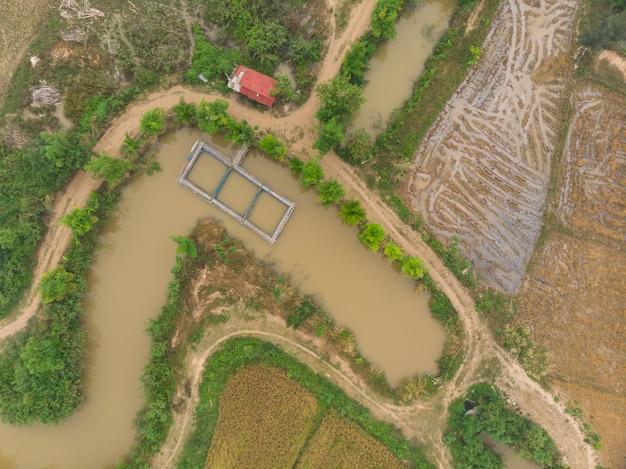 Sistema gabbia per allevamento ittico