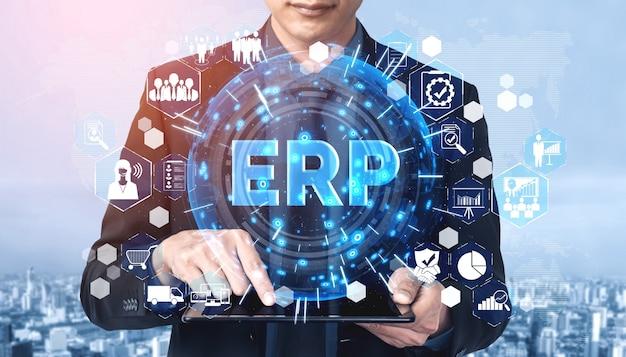 Sistema software erp enterprise resource management per piano di risorse aziendali