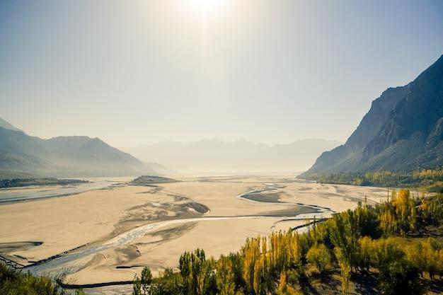 Skardu landform. gilgit-baltistan, pakistan.