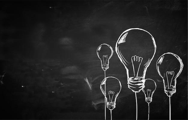 Sketch molti sfondo delle lampadine