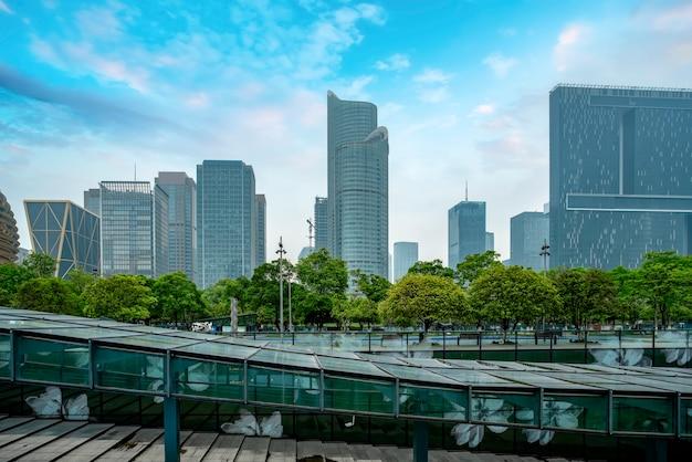 Skyline della città architettonica moderna