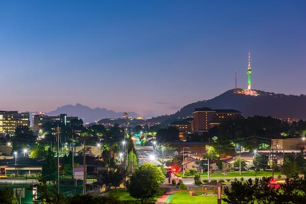 Skyline della città di seoul