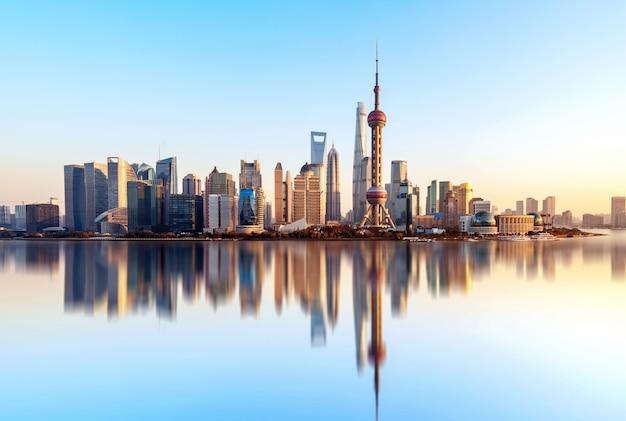 Skyline della città di shanghai