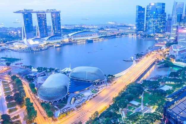 Skyline della città di singapore