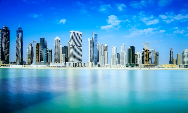 Skyline di dubai downtown