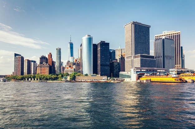 Skyline di manhattan a new york city, stati uniti