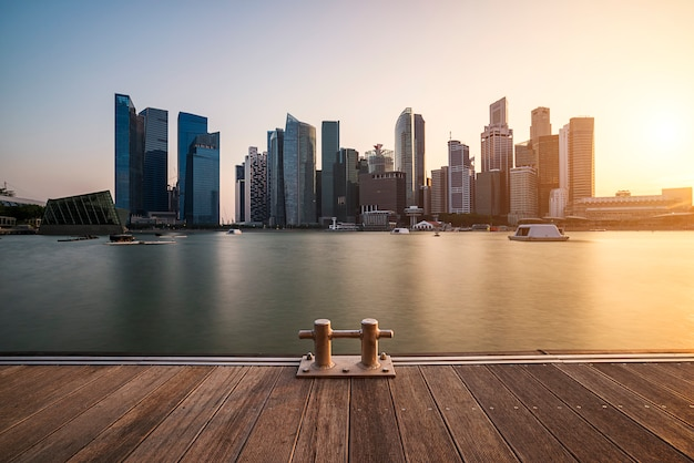 Skyline di singapore e fantastici grattacieli