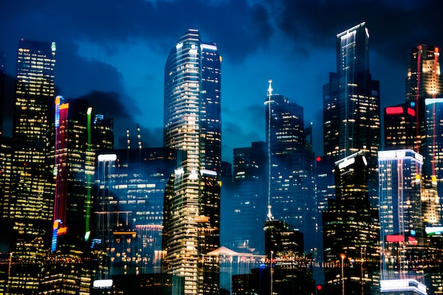 Skyline di singapore