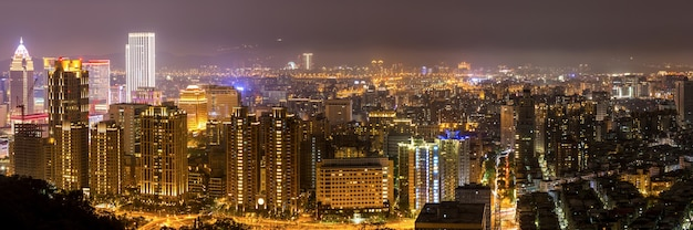 Skyline di taipei, taiwan