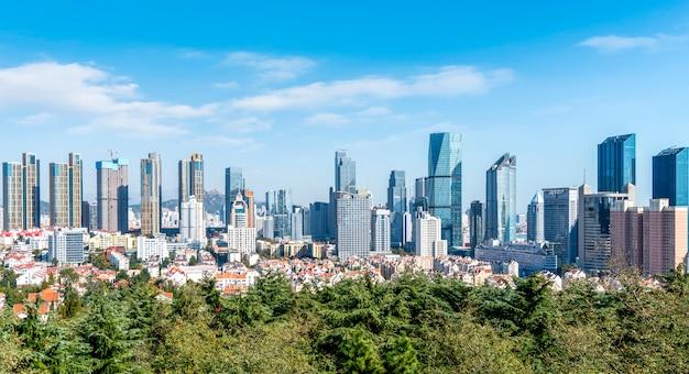 Skyline urbano di qingdao