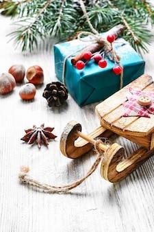 Slitta di natale e regali