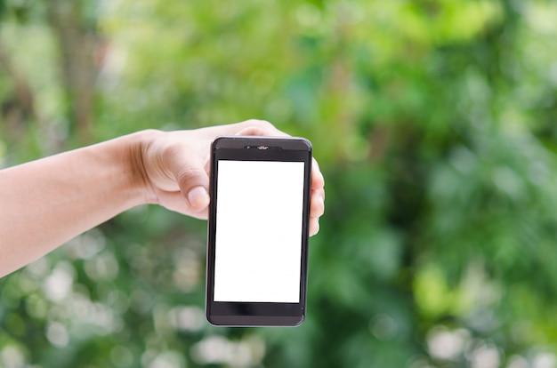 Smart phone in mano