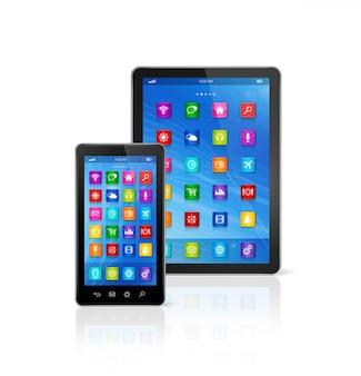 Smartphone e computer tablet digitale