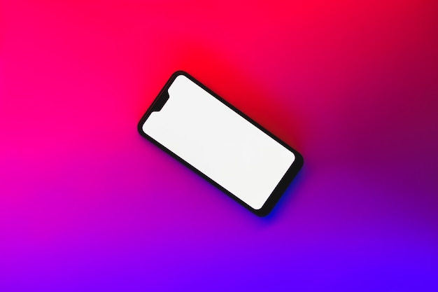 Smartphone generico moderno su neon