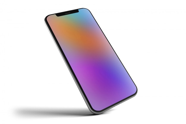 Smartphone isolato - rendering 3d