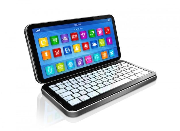 Smartphone, netbook - interfaccia icone app