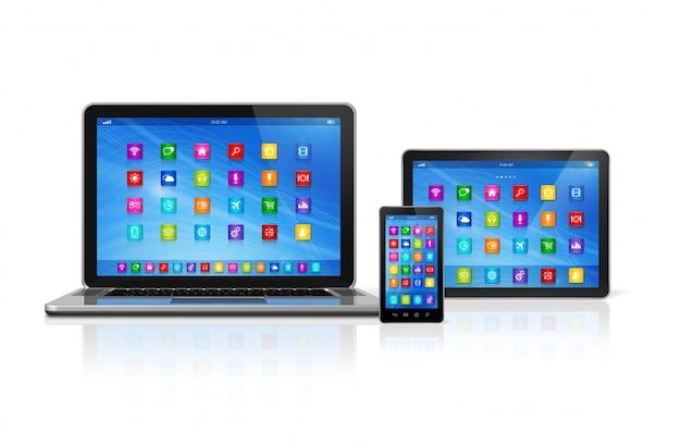 Smartphone, tablet e laptop