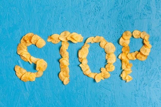 Smettere di consumare patatine