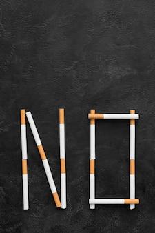 Smettere di fumare il messaggio
