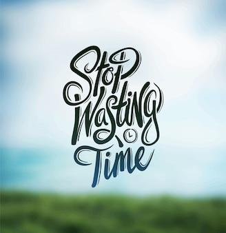 Smetti di sprecare il vettore del tempo
