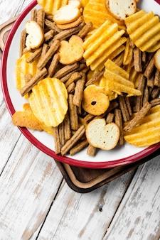 Snack salati, patatine fritte