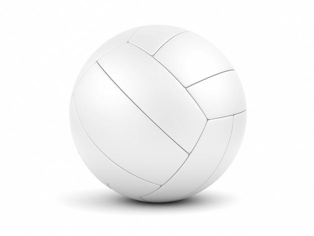 Soccerball bianco sul primo piano bianco