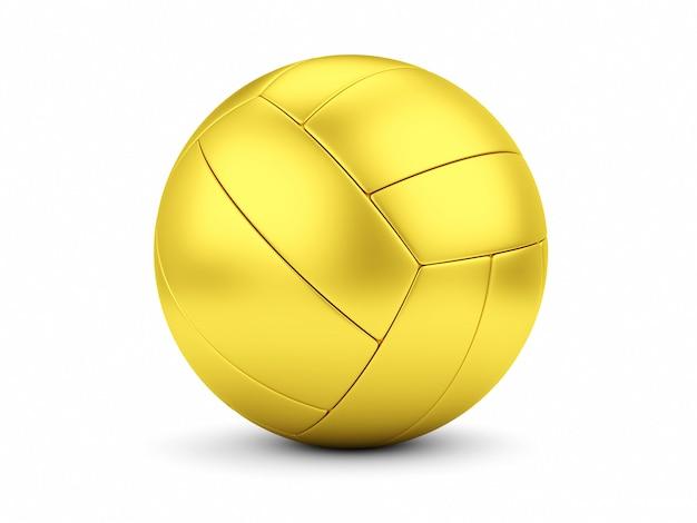 Soccerball dorato sul primo piano bianco